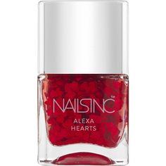Nails Inc Alexa Hearts Nail Polish ($21) ❤ liked on Polyvore featuring beauty products, nail care, nail polish, nails inc. and nails inc nail polish