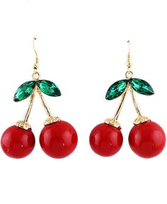 Shop Gold Diamond Red Glaze Cherry Earrings online. Sheinside offers Gold Diamond Red Glaze Cherry Earrings & more to fit your fashionable needs. Free Shipping Worldwide!