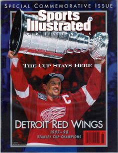 Sports Illustrated- Yzerman Red Wings Champs