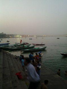 evening at Ganga Ghat Varanasi