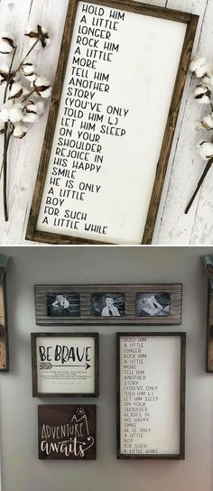 Hold Him a Little Longer Framed Wood Sign, Little Boy Sign, Little Boy Poem Sign, Framed Nursery Sign, Nursery Sign, Nursery Wood Sign #nursery #nurserydecor #signs #baby #babyboy #newborn #farmhouse #rustic #signs #diy #gallerywall #quote #love #newborn #giftideas #bebrave #brave #babyshowergift #affiliate