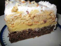 Recepti i kuhinja: Ambasador torta Torte Recepti, Kolaci I Torte, No Cook Desserts, Just Desserts, Brze Torte, Torta Recipe, Sweet Recipes, Cake Recipes, Torte Cake