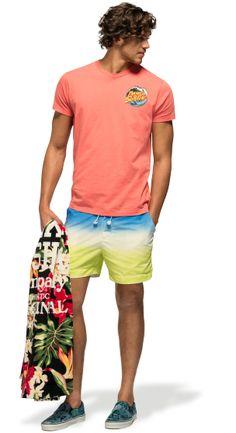 Franklin  Marshall - Man's Look #gradient #deepdye #swimming #summeroutfit #beachstyle