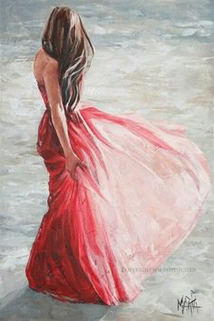 What is Your Painting Style? How do you find your own painting style? What is your painting style? Easy Watercolor, Watercolor Paintings, Painting Art, Dress Painting, Painting Abstract, Woman Painting, Art Beauté, Art Aquarelle, Beginner Painting