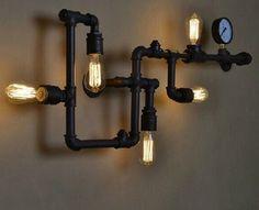lamp van waterleidingbuis - Google zoeken