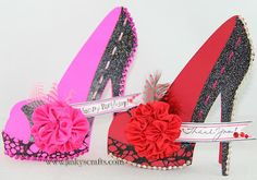 Jinky's Crafts & Designs: High Heel Shoe 3D Cards