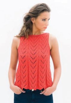 Daisy Duke - Knitted lace top in Louisa Harding Jesse