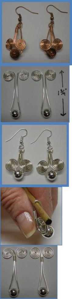 Egyptian Coil Drop Earrings