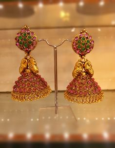 gold jhumkas - Google Search