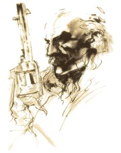 Revolver Ocelot 3 ~ Metal Gear Solid 2 Art