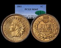 1861 Indian Head Cent PCGS MS65 CAC - Submitted by Charmy Harker (Listing: http://thepennylady.com/coinsforsale/newpurchasespage1.html) | Photo Credit: Todd Pollock of BluCC Photos (http://bluccphotos.com) #CoinOfTheDay #COTD