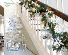 42 Wonderful Christmas Stair Decoration Ideas For 2013#tabs-4050-0-1#tabs-4050-0-1#tabs-4050-0-1#tabs-4050-0-1