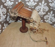 Antique Handcarved Heddle Wooden Loom Very Rare by VintyThreads, $1500.00