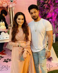 Click on Visit for Video - Full Video on Youtube Aiman Khan, Video Full, Birthday Bash, Pakistani, Daughter, Sari, Celebrities, Youtube, Fashion