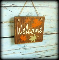 Rustic Fall Welcome Sign, Autumn Decor, Wooden Fall Sign