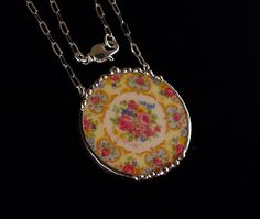 Broken china necklace ...made by Laura Beth Love, Dishfunctional Designs