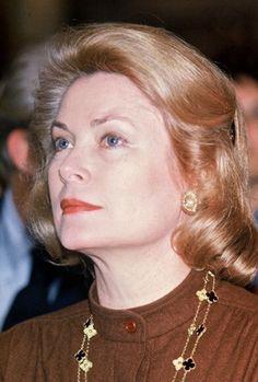 Princess Grace of Monaco attends the presentation of Christian Dior Fall Winter 1979.