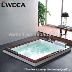 Luxury Square Whirlpool Bathtub Indoor