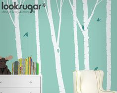 Birch Tree Wall Decal - Nursery Wall Decal -0051