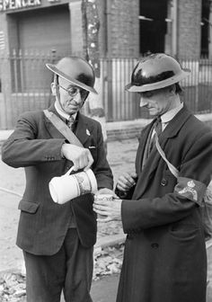 George Rodger G. All night workers of the Rescue Squads welcome tea in the morning. Life in London during The Blitz of World War II in London History, British History, World History, World War Ii, Home Guard, The Blitz, Battle Of Britain, We Are The World, Old London