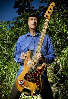 """Billy Sheehan - shown here with """"the wife"""""""