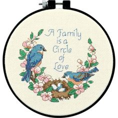 Dimensions Learn-A-Craft Family Love Counted Cross Stitch Kit: 6 Round by Dimensions amazon $7.54 free ship