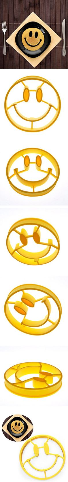 Omelette mold Breakfast Cute Silicone Smiley Face Fried Egg Mold Pancake Egg Rings Shaper Funny Creative Kitchen Tool