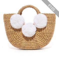 JADEtribe Basket Mini Pom Pom Bag