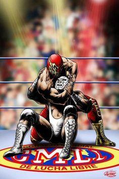 Luchador Mask, Movie Poster Art, Sports Art, Pokemon, Wonder Woman, Wrestling, Superhero, Wallpaper, Artwork