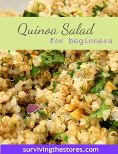 Easy quinoa salad - gluten-free and grain-free!  | www.survivingthestores.com
