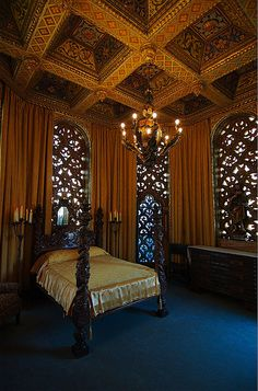 Hearst Castle - Bedroom   by jankertown, via Flickr