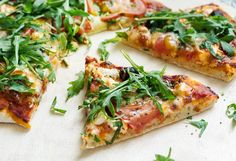pizza z pesto Cooking Time, Vegetable Pizza, Pesto, Buffet, Vegan Recipes, Dinner Recipes, Food Porn, Lunch, Snacks