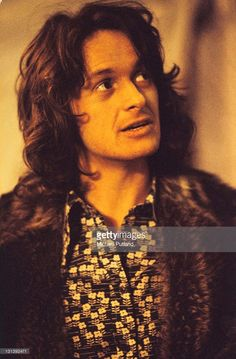 Jon Anderson of Yes, portrait, London, 1974.