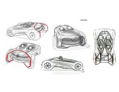 Indias National Institute of Design graduate Jithin Pauloses #Renault Null concept sketches. See the work of all 16 graduates here > http://youngdesigners.nid.edu/discipline/tad