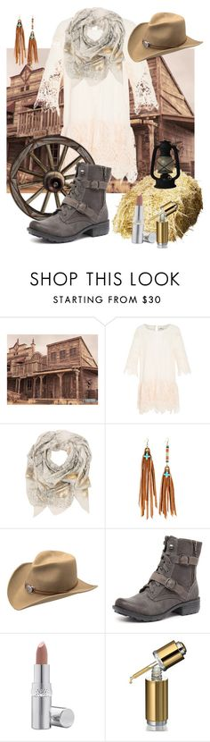 """Prairie Grunge"" by rurustarr ❤ liked on Polyvore featuring Suboo, Sophie Darling, Astali, Master Hatters of Texas, Planet, La Prairie and rustic"