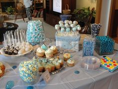 Cupcake and Candy Table for Baby/Wedding Open House (1)