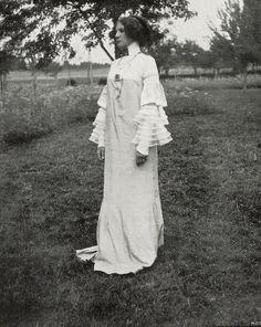Costume design by Gustav Klimt, produced in 1906.