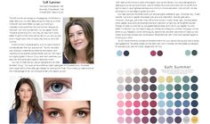 Soft summer color analysis guide.                                                                                                                                                                                 More