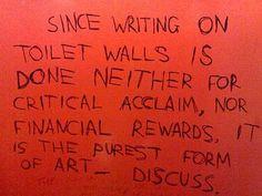 Intelligent Bathroom Graffiti