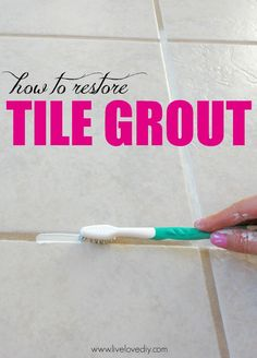 How to restore dirty tile grout! This is so great!