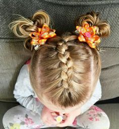 French Braid into Pigtails