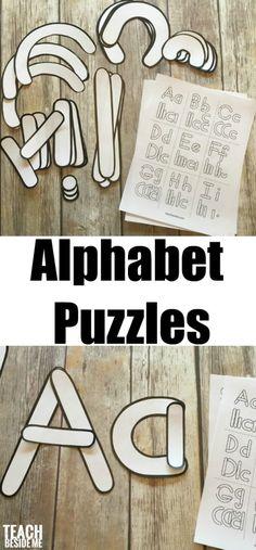 Preschool Alphabet Letter Building Templates - Teach Beside Me