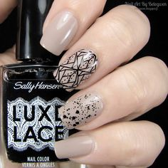 Nail Art By Belegwen: Essence Dare It Nude And Sally Hansen Ruffle