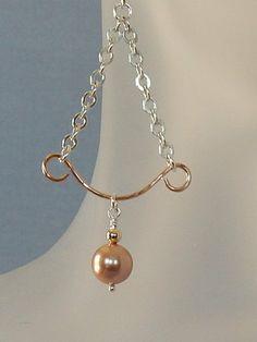 Rose Gold Pearl Earrings by BeadIndulgences on Etsy, $65.00