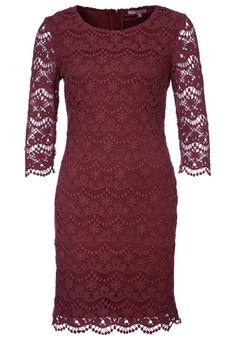mint & berry lace burgundy dress