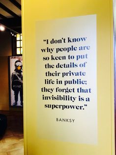 Banksy Exhibition, M