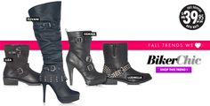 Biker Chic boots are adorable. So much you can do with them. Jeans, dress, skirt, the possibilities are endless.