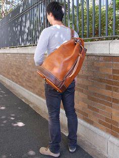 ボンサック Lななめがけ Leather Roll, Leather Bags, My Bags, Purses And Bags, Leather Backpack, Messenger Bag, Satchel, Backpacks, Collection