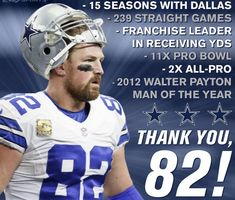 Jason Witten retires after Dallas we'll miss you Dallas Cowboys Decor, Cowboys 4, Dallas Cowboys Football, Nfl Football Teams, Football Memes, Jason Witten, How Bout Them Cowboys, Walter Payton, 4 Life