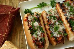 bolognese hot dogs